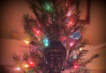 Buddha with Christmas Tree - By Alan Peto