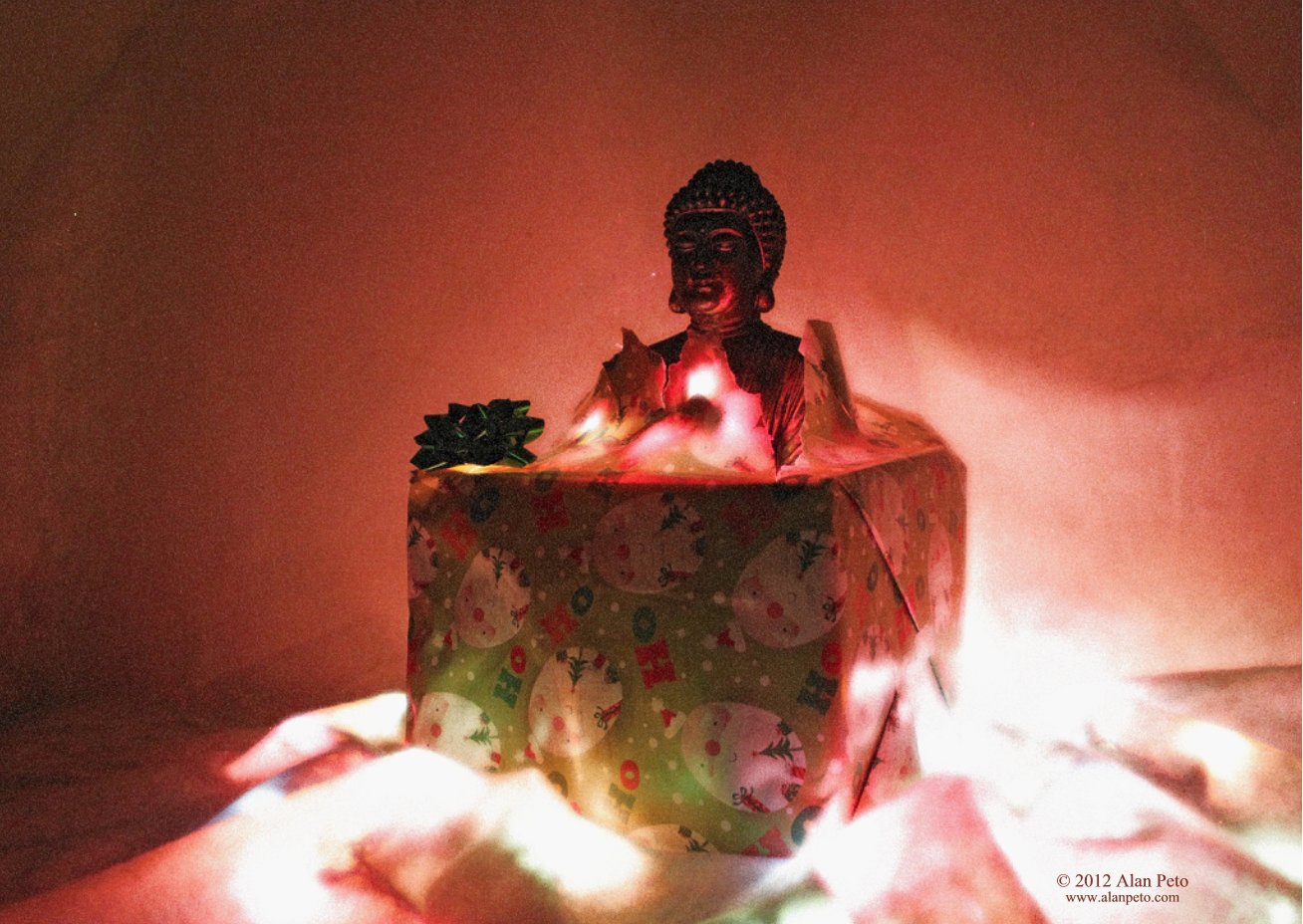 The Buddha wants to bring you the present of enlightenment!