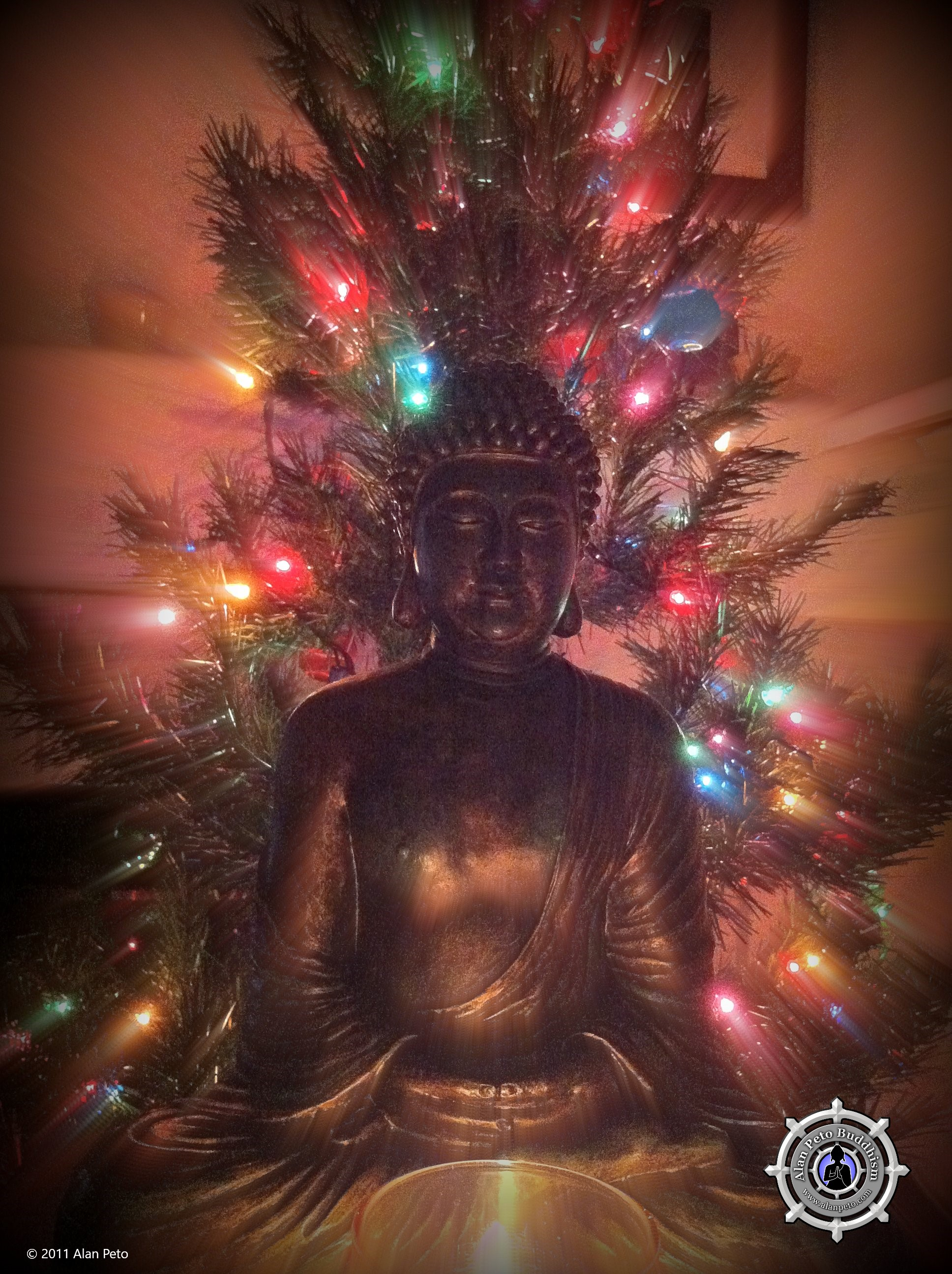 Understanding a buddhist during christmas alan peto the buddha really loves being around my christmas tree kristyandbryce Image collections